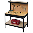 Workbench with Peg Board