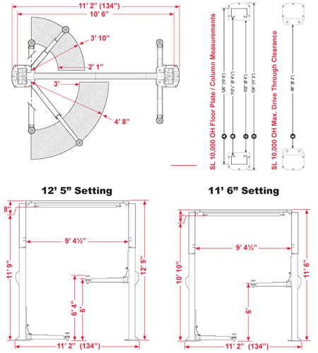 Automotive Lifts Dimensions : Bendpak post lift wiring diagram for