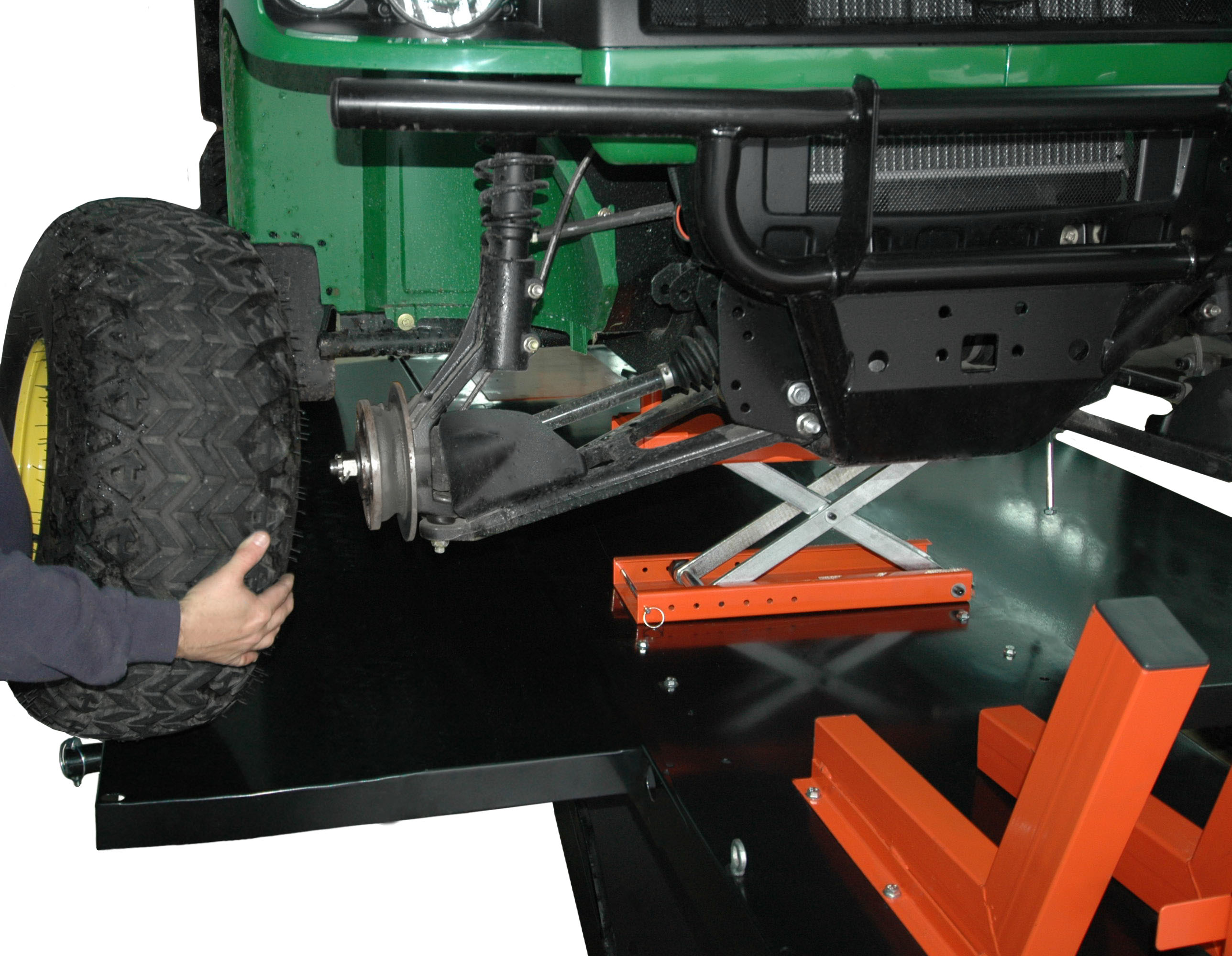 Hydraulic Table Lift Kits : Motorcycle lifts tcmlw lift quot extended