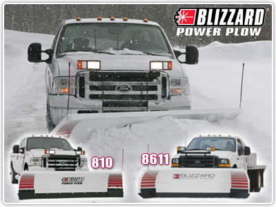 Blizzard Snowplows | 810, 8611, and 8611LP Power Plows - Featuring  Hydraulically Controlled Expanding Wings!